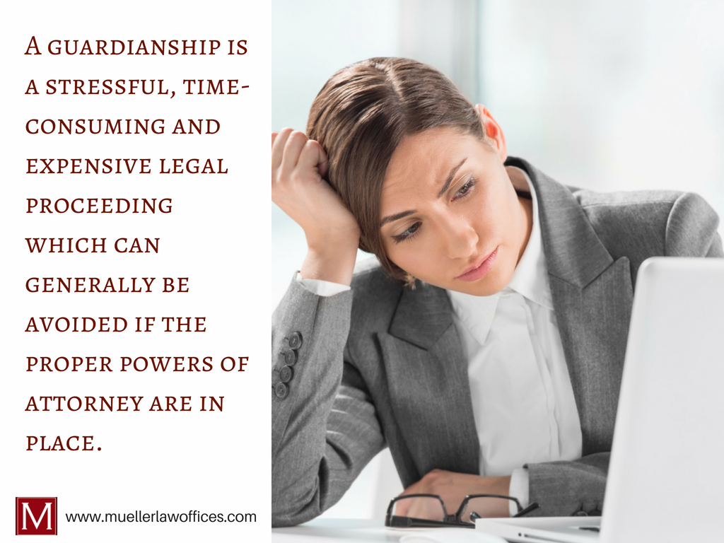 Durable Power of Attorney - Guardianship is an expensive, time-consuming and stressful process.